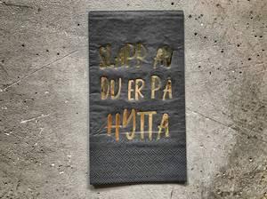 Bilde av Serviett. Slapp av 33x40 cm sort/ gull