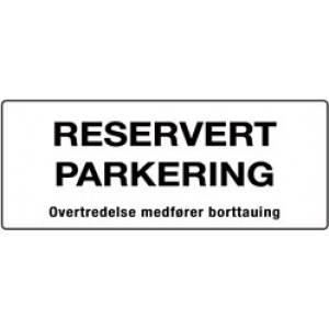 Bilde av Reservert parkering