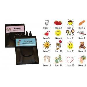 Bilde av Colombi hygienemappe med farget skilt og ikon