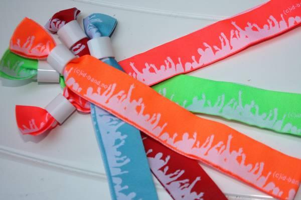 10stk tekstil bånd med motiv
