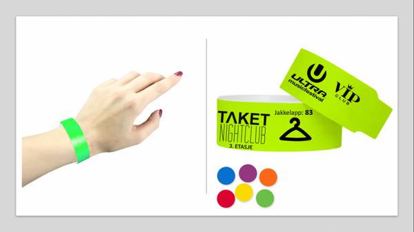 10stk utelivs bånd med din logo/tekst