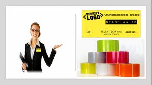 Bilde av 10stk messe labels