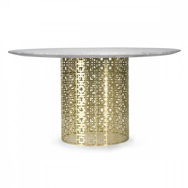 Bilde av Nixon spisebord nikkel/messing marmor