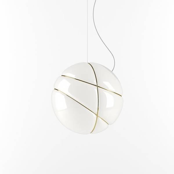 Bilde av Armilla taklampe hvit og gull | Lampefeber