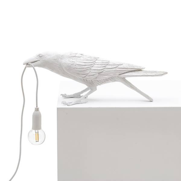 Bilde av Bordlampe Bird playing i hvit | Seletti
