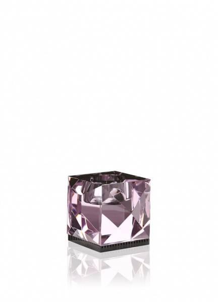 Bilde av Ophelia telysestake rosa/svart krystall