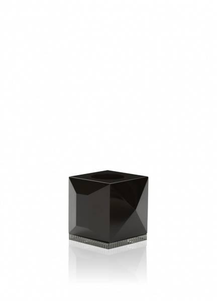 Bilde av Ophelia telysestake svart/klar krystall