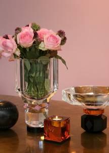Bilde av Ophelia telysestake amber/svart
