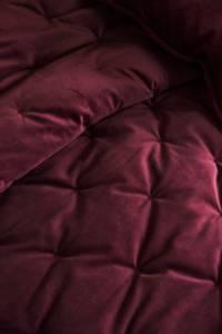 Bilde av Sengeteppe fløyel 260x260  vinrød