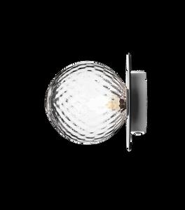 Bilde av Liila 1 (M) vegg/taklampe krom mønstret glass |