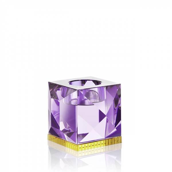 Bilde av Ophelia telysestake lilla krystall