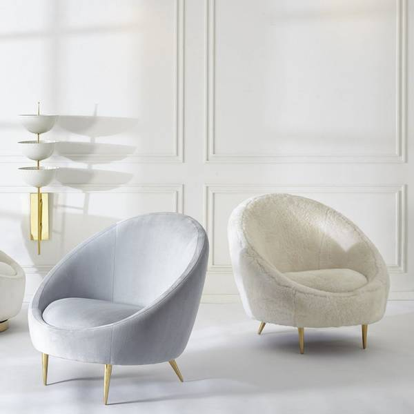 Ether stol isblå