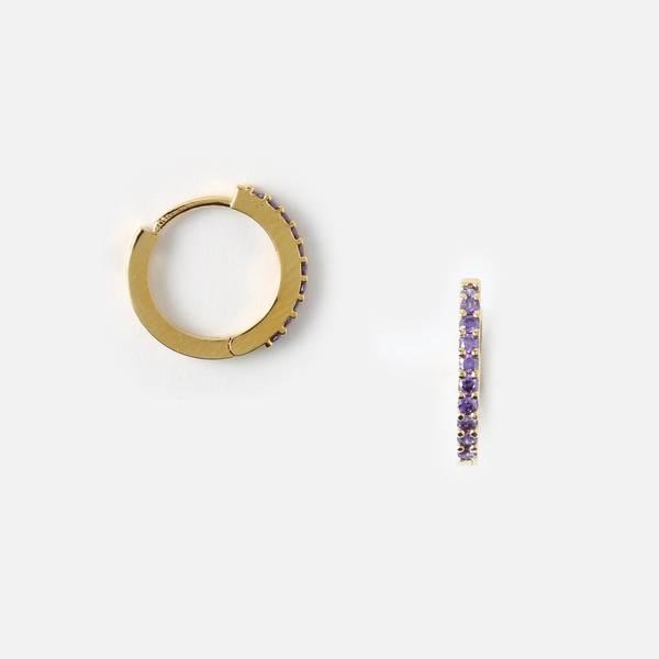 Bilde av Pave hoop purple øredobber