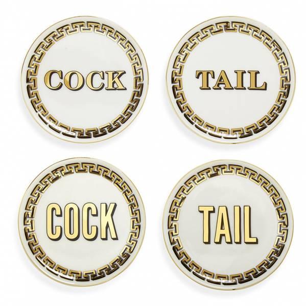 Cock/tail glassbrikker 4pk