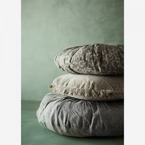 Bilde av Rund pute lin jadegrønn | Madam Stoltz