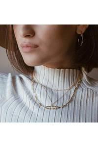 Bilde av Bamboo gull halskjede 2pk | Orelia