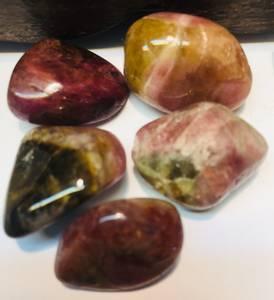 Bilde av Turmalin, melon polert sten