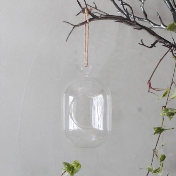 Bilde av Hengende Glasskule Oval