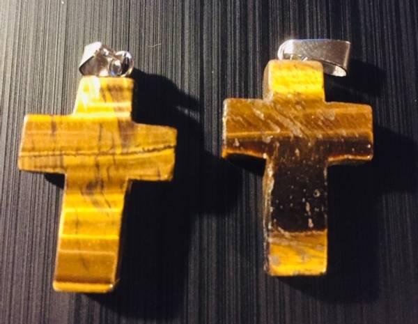 Bilde av Kors, Tigerøye 2cm