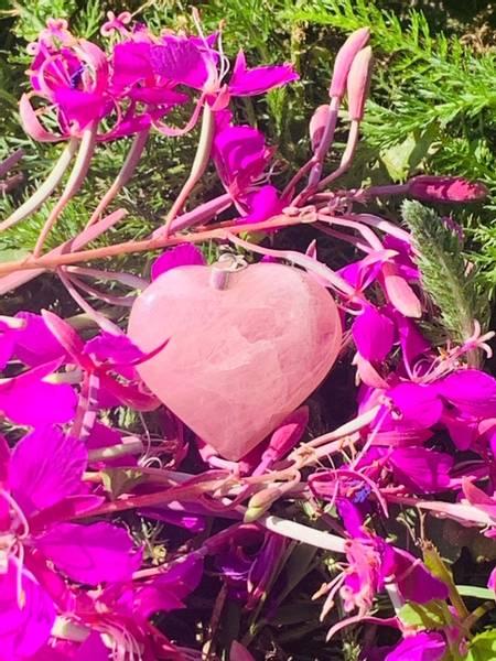 Bilde av Rosenkvarts Hjerte 3cm anheng