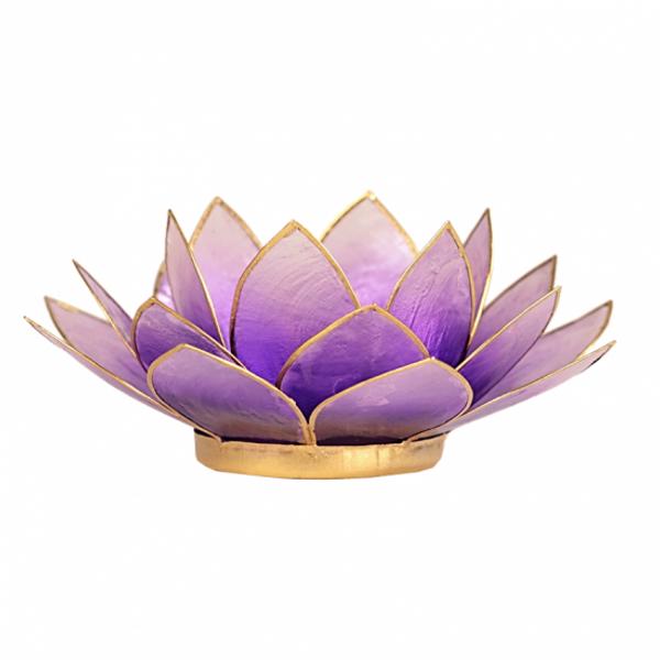 Bilde av Lotus Lys/lilla Telysholder