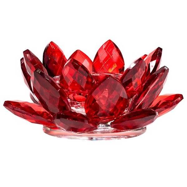 Bilde av Rød Lotus Telysholder