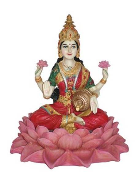 Bilde av Lakshmi sittende på Lotus