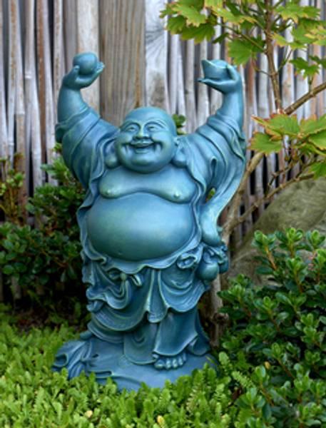 Bilde av Happy Buddha 39cm Hagestatue