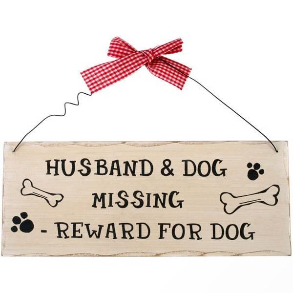 Bilde av Savnet hund og Mann skilt