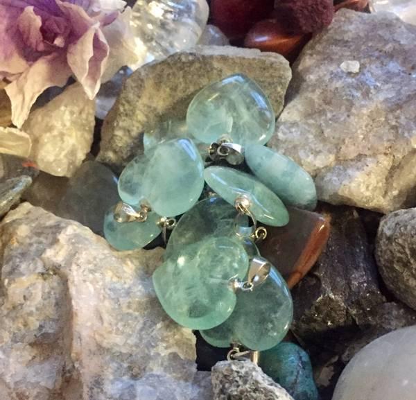 Bilde av Fluoritt, Grønn Hjerte 2cm