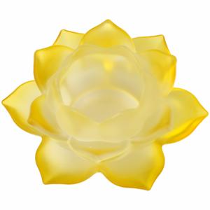 Bilde av Lotus glass gul telysholder