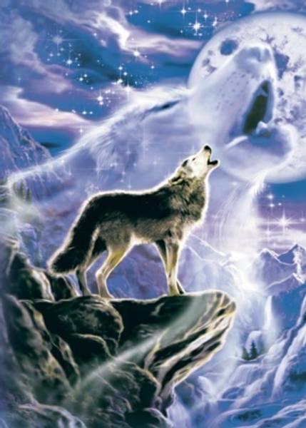 Bilde av Wolf Spirit Moon Blank Tree