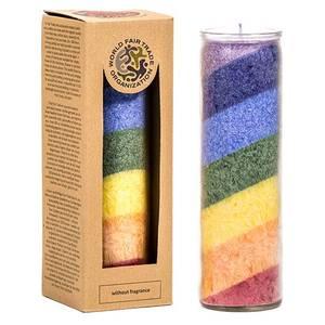 Bilde av Rainbow Stearinlys i glass