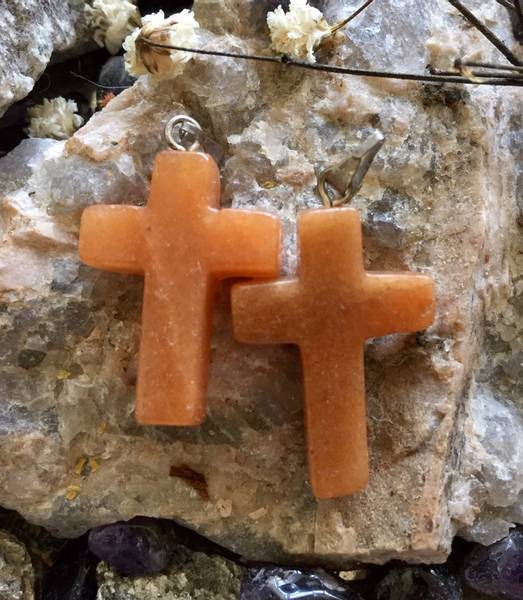 Bilde av Kors, Aventurin Oransje