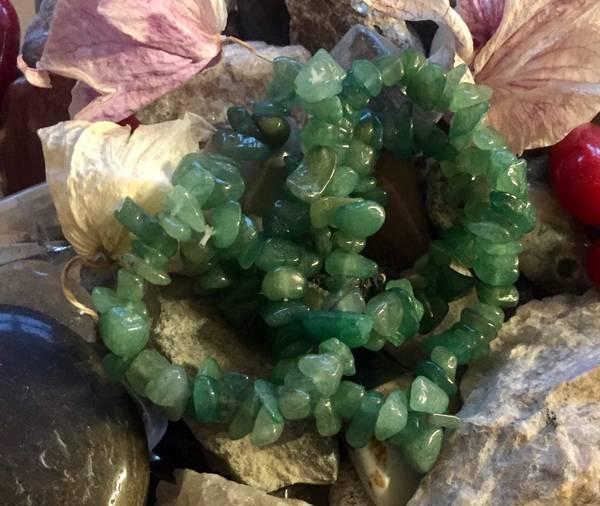 Bilde av Aventurin Grønn Chips Armbånd