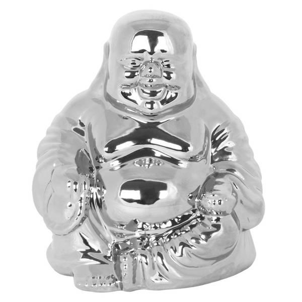 Bilde av Happy Buddha Silver 23cm