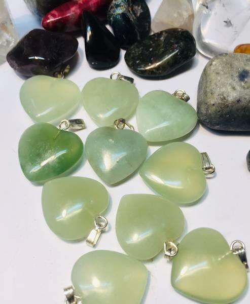 Bilde av Jade, Grønn Hjerte 2cm