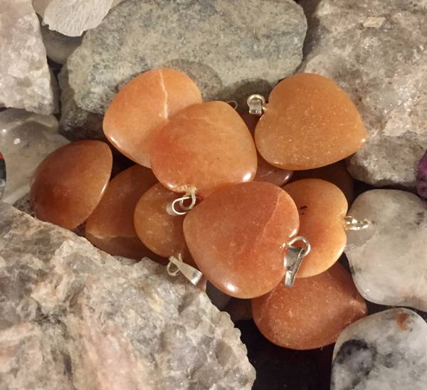 Bilde av Aventurin, Oransje Hjerte 2cm