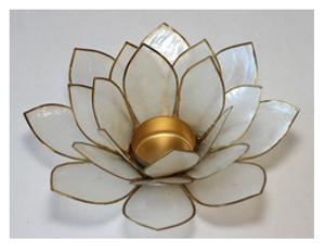 Bilde av Lotus Telys STOR hvit
