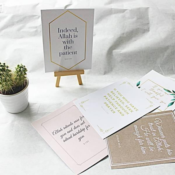 Quotes from the Quran - Pakke med 5 motivasjonskort