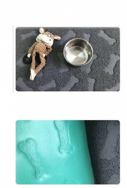 Stort firkantet antiskliunderlag, hundebein