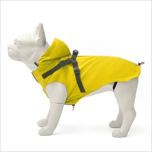 Bilde av Gult regndekken til hund med sele