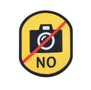 """Bilde av Gult """"ikke ta bilde av hunden"""" merke"""