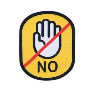 """Bilde av Gult """"ikke klapp hunden"""" merke"""
