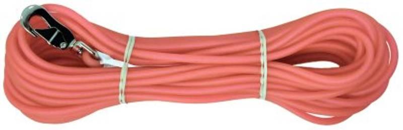 Rosa sporline / Langline til hund 6mm