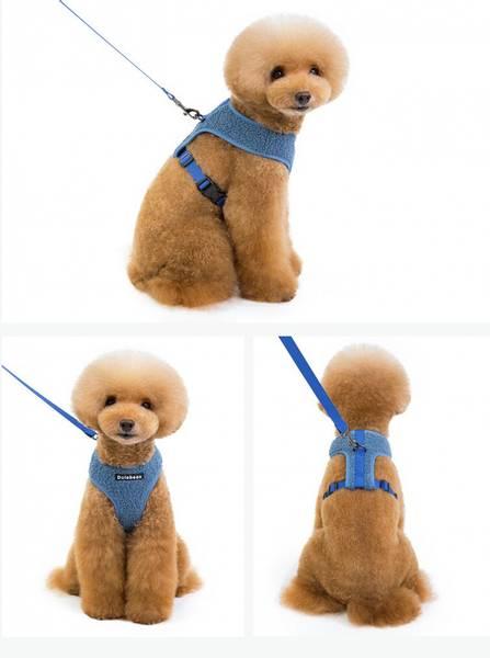 Teddy hunde- og kattesele i duse farger
