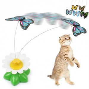 Bilde av Bevegelig elektrisk katteleke med fugl