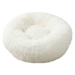 Bilde av Hvit rund hund- og katteseng 2 str