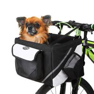 Bilde av Sort sykkelbag for hund