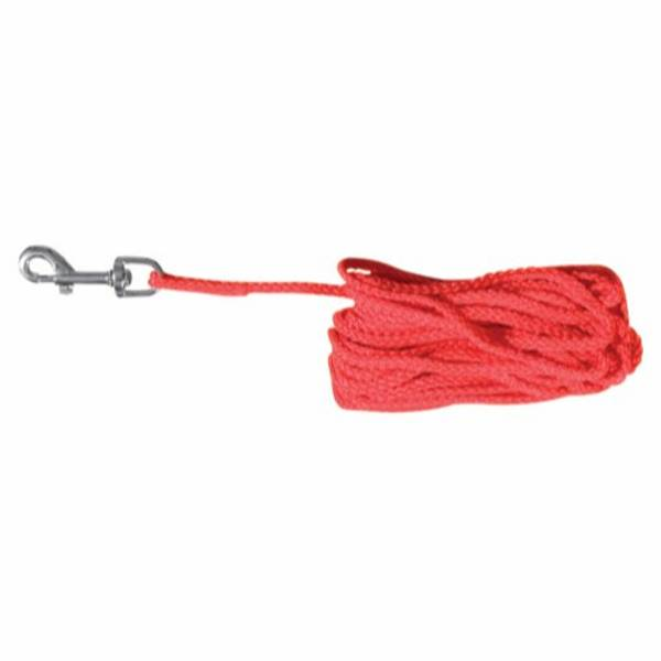 15m Rød nylon sporline / Langline til hund